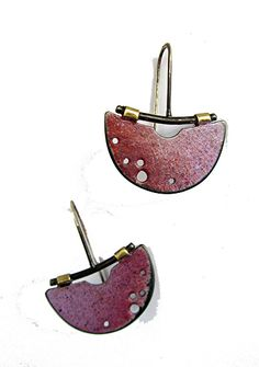 halfmoon painterly earrings by Tish Collins