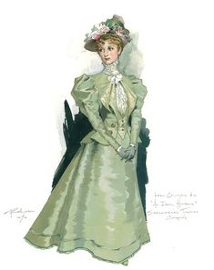 Costume design by Robert Perdziola for the Shakespeare Theatre Company's production of An Ideal Husband. Theatre Costumes, Ballet Costumes, Historical Costume, Historical Clothing, Costume Design Sketch, Fashion Illustration Vintage, Fashion Illustrations, Character Design Inspiration, Victorian Fashion