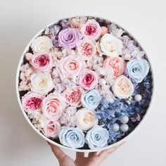 Diameter: 11inches Materials: preserved flowers, imported from Japan.  The ring in the photo is not included :)  Check out more products from our