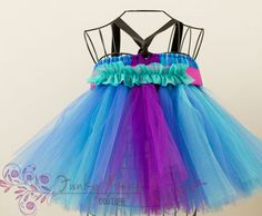 Ana Tutu Dress.  Teal and purple tulle.  by FunkyPropsCouture, $52.00