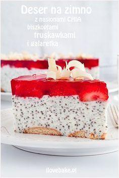 deser z nasionami chia Healthy Dessert Recipes, Fruit Recipes, Baby Food Recipes, Sweet Recipes, Polish Desserts, Cookie Desserts, Cookie Recipes, Sweets Cake, No Bake Cake