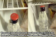 Use this trick to cool down a drink more quickly.