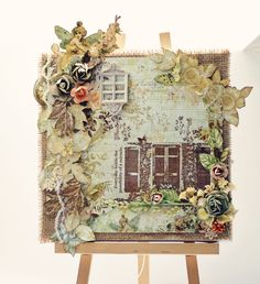 Altered Canvas created by Magda using the Butterfly Garden Collection by Jodie Lee (Gypsy Chick Designs/Pink Paislee).