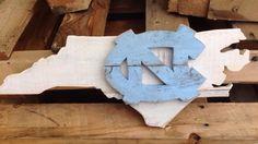 I am proudly a UNC fan from North Carolina Carolina Pride, Carolina Blue, Pallet Signs, Wood Signs, Tar Heels Football, Unc Chapel Hill, Blue Paint Colors, Unc Tarheels, University Of North Carolina