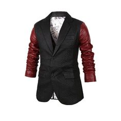 Stylish Lapel Slimming Personality Color - vpstyles #mens #mensfashion #blazers