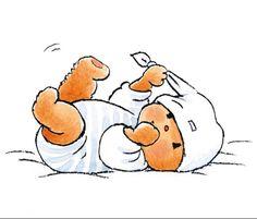 Fotobehang Sweet Collectie - Bear in Bed - FotobehangFactory.nl