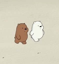 """23.3k Likes, 730 Comments - We Bare Bears (@webarebears.official) on Instagram: """"Tag someone you love to walk with. ❄ #grizz #icebear #walk #cute"""""""