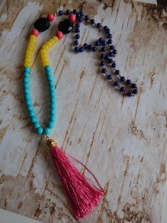 Multicolor Boho Necklace. Statement Necklace. by NOMADSTRADE