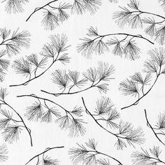 Vevet hvit m sorte kvister