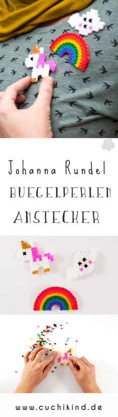 # Johanna Rundel – badge made of round beads - Diy & Crafts Day Diy Crafts For Boyfriend, Diy Gifts For Kids, Crafts For Girls, Diy For Kids, Valentines For Kids, Valentine Crafts, Iron Beads, Unicorn Birthday Parties, Easy Diy Crafts