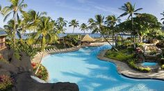 Only 36 more days and we will be here!! I cannot wait!!! .... Outdoor pool of the Hilton hotel in the Waikoloa Beach Resort