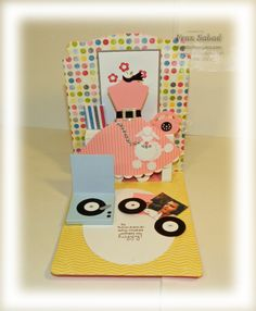 stampersblog: Rock and Pop   Fran ROCKS the Stampin' Up! Pop 'n Cuts dies. The record player opens, too!