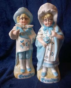 Antique Porcelain, Bisque Figurines, Grandpa and Grandma, German Pottery, Collectible Ceramic by TillyofBloomsbury on Etsy