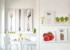 Decorare una parete bianca - Decorare le pareti bianche della cucina