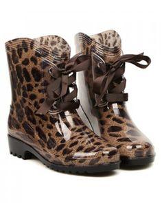 animal print rain boots