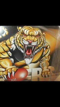 richmond afl football club logo afl mighty tigers pinterest australian football league. Black Bedroom Furniture Sets. Home Design Ideas