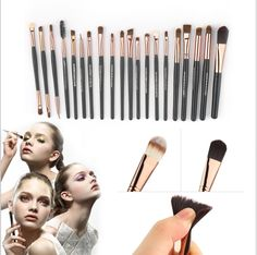 TOP Quality Professional 20 PCS Cosmetic Facial Make up Brush Kit Wool Makeup Brushes Tools Set