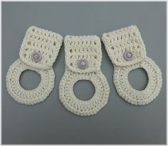 Towel Holder Set by DebbieCrochets on Etsy