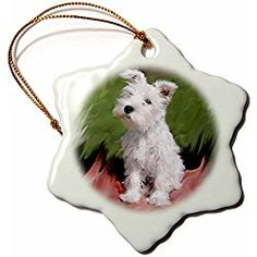 The Holiday Aisle Schnauzer Holiday Shaped Ornament White Christmas Ornaments, Dog Christmas Gifts, Christmas Animals, Christmas Decorations, Holiday Decor, Gifts For Dog Owners, Dog Lover Gifts, Dog Lovers, Wings Design