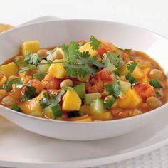 Recept - Indiase curry met kikkererwten en mango - Allerhande http://www.ah.nl/allerhande/#/recepten/486906/indiase-curry-met-kikkererwten-en-mango/?groupId=74=on