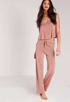 Striped Pyjama Set Pink