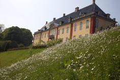 Ledreborg slot sydvest for Roskilde, et af barokkens fornemste herregårdsanlæg