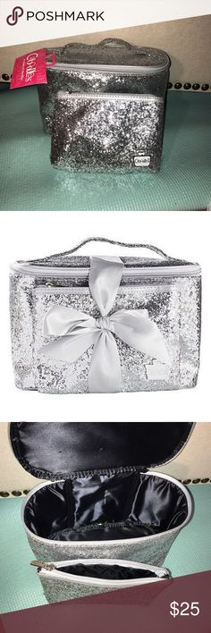 NWT silver glitter sequin 2 peice caboodle bag Brand new with tag glitter sequin makeup case from caboodle. These are extremely rare because they were a limited edition released from ulta. Would be perfect for beauty products or hair accessories. Also could work for school supply's or as a pencil pouch. 💜MAKE AN OFFER💜 caboodle Bags Cosmetic Bags & Cases
