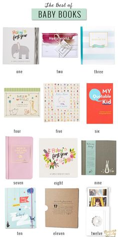 The Best Baby Memory Books | Momma Society-The Community of Modern Moms | www.mommasociety.com