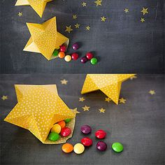 3D Star Box Tutorial, I will use these for an advent calender (25 boxes hung on a Christmas tree, numbered, with small gifts inside)