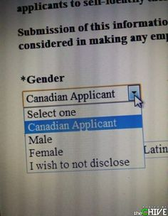 Male, Female, or Canadian?