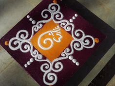 Presenting here the beautiful collection of Ganesh Chaturthi Rangoli designs you can opt this year. Ganesh Chaturthi, the most popular . Easy Rangoli Designs Diwali, Rangoli Simple, Rangoli Designs Latest, Simple Rangoli Designs Images, Rangoli Designs Flower, Free Hand Rangoli Design, Small Rangoli Design, Rangoli Ideas, Rangoli Designs With Dots