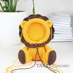 Hello everybody. I want to share the process of creating a new photo frame. I think you already guessed what kind of animal it is. Crochet Lion, Crochet Motif, Crochet Animals, Crochet Patterns, Learn To Crochet, Crochet For Kids, Crochet Gifts, Crochet Dolls, Mickey Mouse Picture Frames