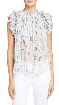 3084247249 Cool Summer Top Isabel Marant Étoile Erell Print Silk Top  435.00  260.98  Limited Time 40%