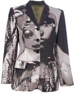 4f67443290 Jean Paul Gaultier - Black Abstract Print Blazer - Lyst