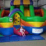 Slide and maze bounce house