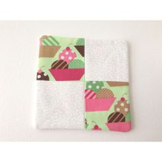 Retro Pot Holder, Ice Cream Trivet, Pink Hot Pad, Mug Rug, Ice Cream... ($5.56) ❤ liked on Polyvore featuring home, kitchen & dining and kitchen linens