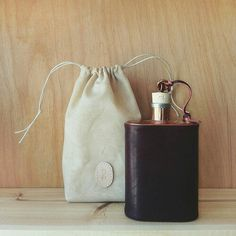 Jacob Bromwell- Handstitched Flask
