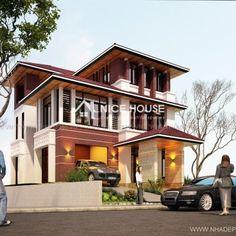 Thiết kế biệt thự, mẫu nhà biệt thự đẹp, kiến trúc biệt thự