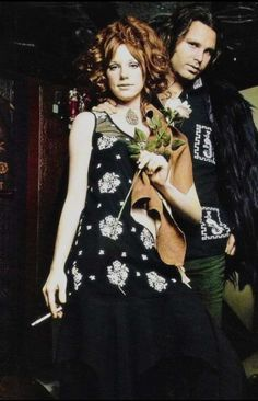 Pam Courson and Jim Morrison {Themis photoshoot 1969}