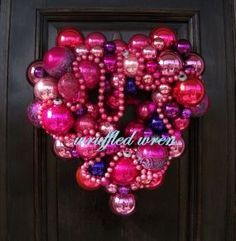 Valentine's day ornament wreath!