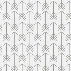 White and Gray Arrow Fabric by Carousel Designs.
