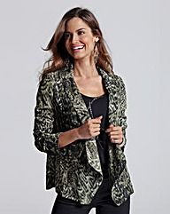 Together Print Jacket Wear this with my Green Dress Print Jacket, Fashion Outfits, Womens Fashion, My Wardrobe, Green Dress, Plus Size Women, Dress Skirt, Kimono Top, Tunic Tops