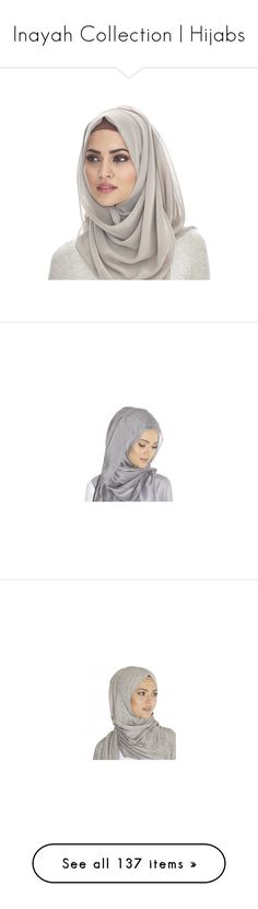 """""""Inayah Collection   Hijabs"""" by lunicornn ❤ liked on Polyvore featuring accessories, hijab, browns jersey, khajiit, red jersey, purple jersey, home, kitchen & dining, maxi length slip and maxi slip"""
