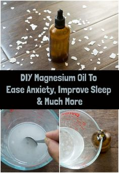 DIY Magnesium Oil To Ease Anxiety, Improve Sleep & Much More Magnesium oil is the best way to get more magnesium into your body. This DIY magnesium oil is easy to make and relieves anxiety, improves sleep and more. Anxiety Remedies, Sleep Remedies, Magnesium For Sleep, Topical Magnesium, Magnesium Oil Spray, Homemade Cleaning Supplies, Essential Oils For Anxiety, Ginger Benefits, Plant Therapy