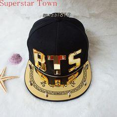 Kpop BTS Bangtan Boys Concert Summer Sun Hat SnapBack Baseball Caps Hip Hop 2016 New
