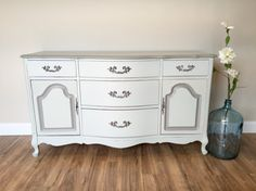 Buffet Sideboard  French Provincial Dresser  by VintageHipDecor