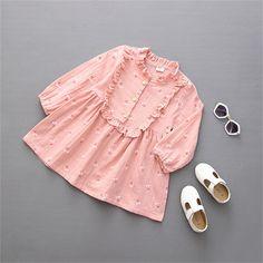 $8.38 (Buy here: https://alitems.com/g/1e8d114494ebda23ff8b16525dc3e8/?i=5&ulp=https%3A%2F%2Fwww.aliexpress.com%2Fitem%2F2016-new-dress-girls-clothes-summer-dress-kids-dresses-for-girls-Cherry-pattern-edible-fungus-side%2F32658911789.html ) Vestidos Rushed Appliques Casual 2016 Dress Girls Clothes Summer Kids Dresses For Cherry Edible Fungus Side Long Sleeve Q081 for just $8.38