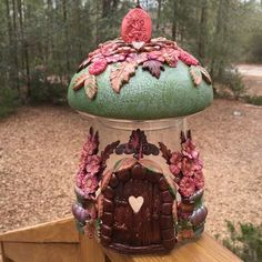 polymer clay - fimo - jar fairy house 2