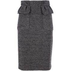 BURBERRY PRORSUM tweed pencil skirt ($1,065) ❤ liked on Polyvore