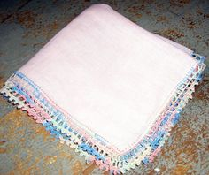 Vintage Handkerchief Pink by TheBackShak on Etsy, $4.00